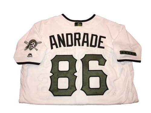 Photo of Heberto Andrade Game-Used Memorial Day Weekend Jersey