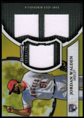 Photo of 2011 Bowman Sterling Rookie Triple Relic Gold Refractors #JW Jordan Walden