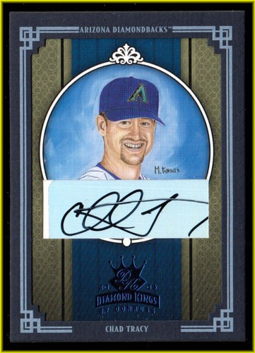 Photo of 2005 Diamond Kings Signature Framed Blue #15 Chad Tracy/50