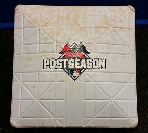 Photo of  Authenticated ALDS Game 1 - Game Used 1st Base Innings 7-9