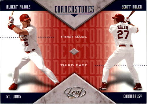 Photo of 2005 Leaf Cornerstones Bats #7 Chipper Jones/J.D. Drew