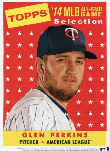 Photo of 2014 Topps 5x7 All-Star Selection Glen Perkins -- Part of exclusive Minneapolis FanFest set