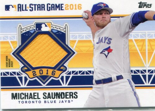 Photo of 2016 Topps Update All-Star Stitches #ASTITMS Michael Saunders