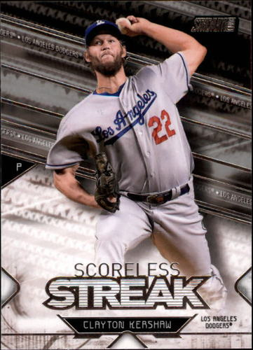 Photo of 2017 Stadium Club Scoreless Streak #SSCK Clayton Kershaw