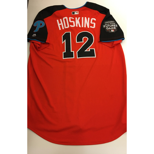Photo of Rhys Hoskins Team USA Batting Practice Worn Jersey - 2017 ASG Futures Game - Jersey Size 48