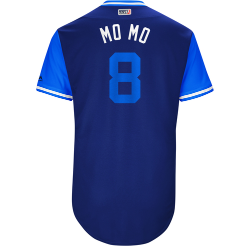 "Photo of Kendrys ""Mo Mo"" Morales Toronto Blue Jays Game-Used Players Weekend Jersey"