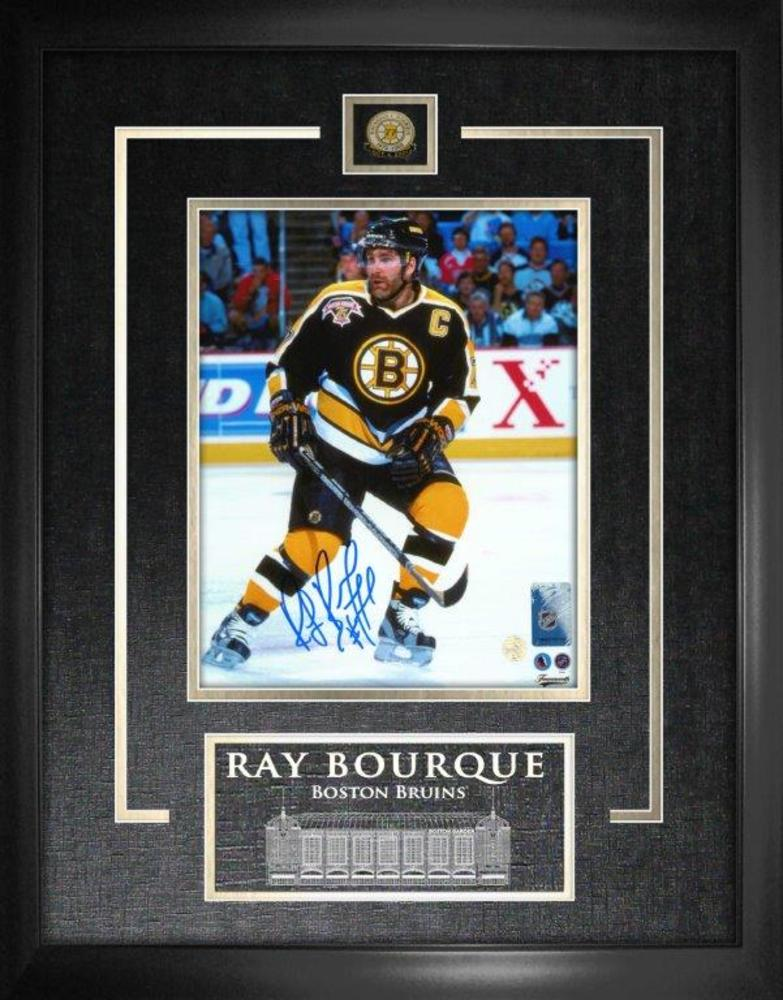 Ray Bourque - Signed 8x10 Etched Mat Bruins