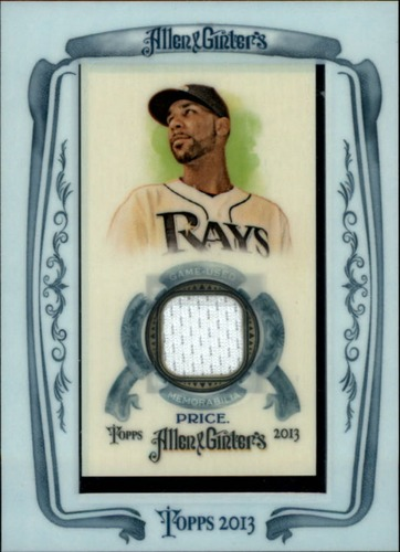 Photo of 2013 Topps Allen and Ginter Framed Mini Relics #DP David Price