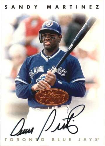 Photo of 1996 Leaf Signature Autographs #147 Sandy Martinez