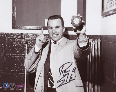 RON ELLIS Toronto Maple Leafs SIGNED 8x10 Photo 1st Goal Photo