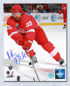 Niklas Kronwall Detroit Red Wings Autographed Cup Finals Action 8x10 Photo