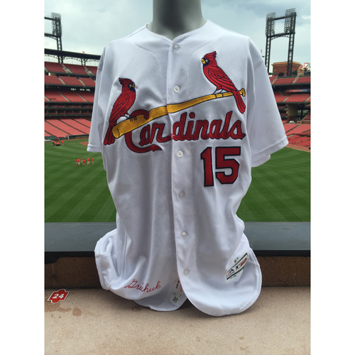 Photo of Cardinals Authentics: Randal Grichuk Game Worn Home White Jersey