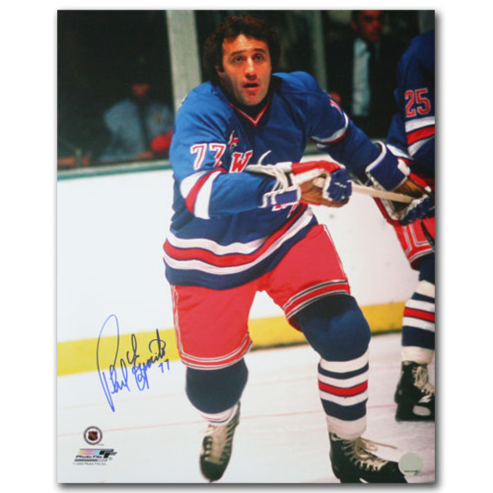 Phil Esposito Autographed New York Rangers 16X20 Photo