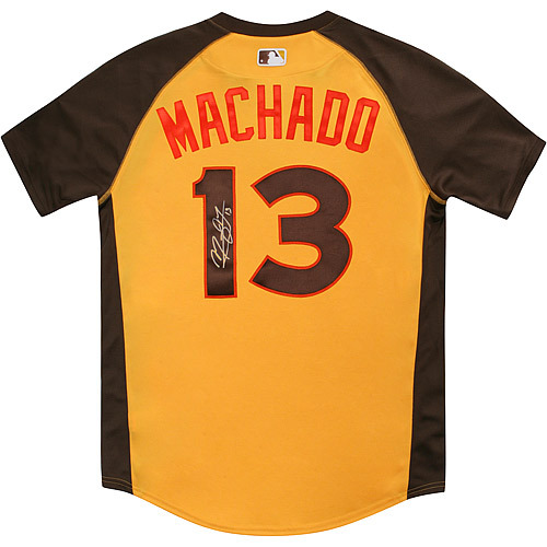 Photo of Manny Machado 2016 Major League Baseball Workout Day/Home Run Derby Autographed Jersey