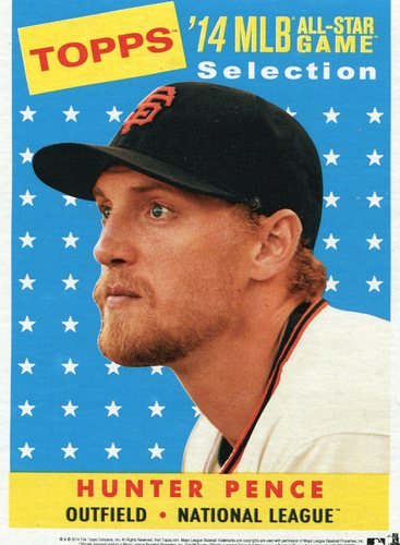 Photo of 2014 Topps 5x7 All-Star Selection Hunter Pence -- Part of exclusive Minneapolis FanFest set