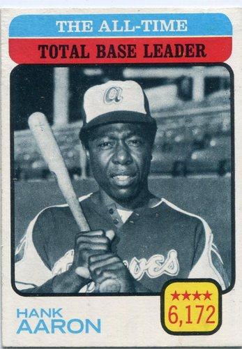 Photo of 1973 Topps #473 Hank Aaron/All-Time Total Base Leader
