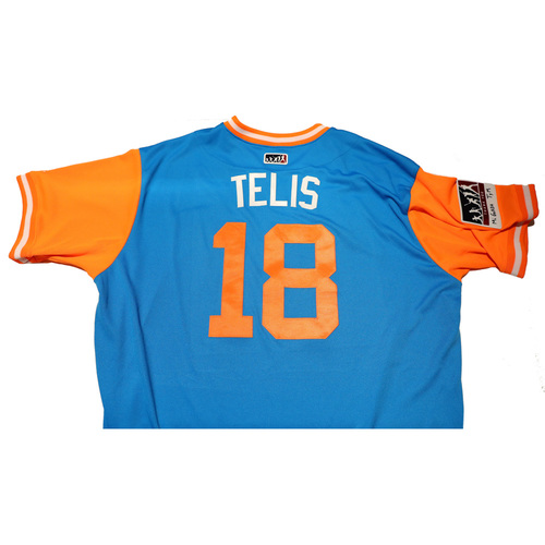 "Photo of Tomas ""Telis"" Telis Miami Marlins Game-Used Players Weekend Jersey"