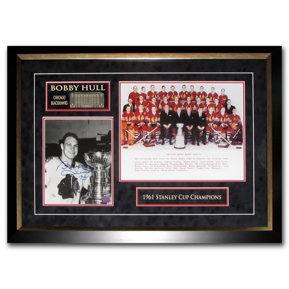 Bobby Hull Autographed Chicago Blackhawks Limited-Edition Framed Display - #20/61