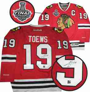 Jonathan Toews - Signed Reebok Premier Chicago Blackhawks 2015 Stanley Cup Champions Jersey