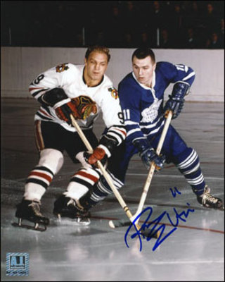 RON ELLIS Toronto Maple Leafs SIGNED 8x10 Photo vs Bobby Hull