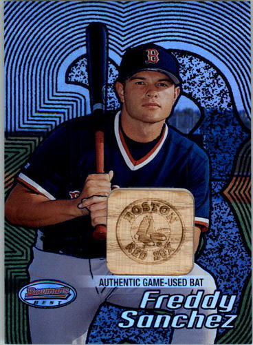 Photo of 2002 Bowman's Best Blue #152 Freddy Sanchez Bat