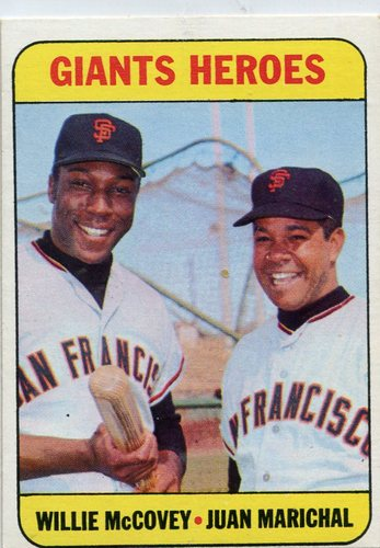 Photo of 1969 Topps #572 Giants Heroes/Willie McCovey/Juan Marichal