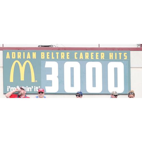 Photo of Count Down Banner To Adrian Beltre's MLB Career 3000th Hit