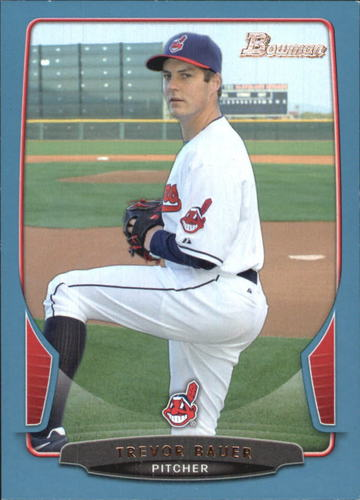 Photo of 2013 Bowman Blue #18 Trevor Bauer -- Indians post-season