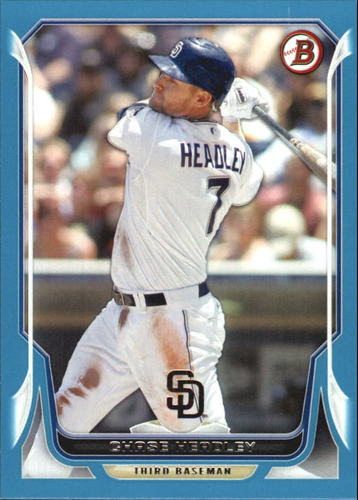 Photo of 2014 Bowman Blue #54 Chase Headley 020/500 -- Yankees post-season