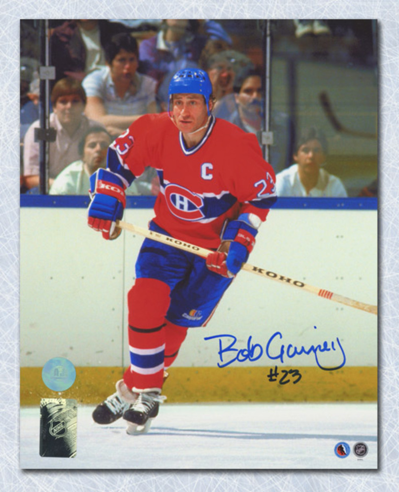 Bob Gainey Montreal Canadiens Autographed Habs Captain 8x10 Photo