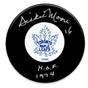 Dickie Moore Toronto Maple Leafs HOF Autographed Puck