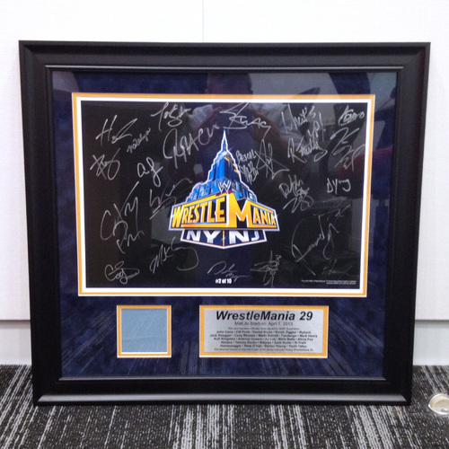 WrestleMania SIGNED Plaque with piece of USED Ring Canvas (#2 of 10)