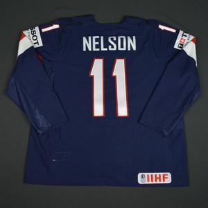 Brock Nelson - 2016 U.S. IIHF World Championship - Game-Worn Jersey