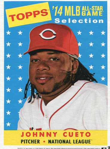 Photo of 2014 Topps 5x7 All-Star Selection Johnny Cueto -- Part of exclusive Minneapolis FanFest set