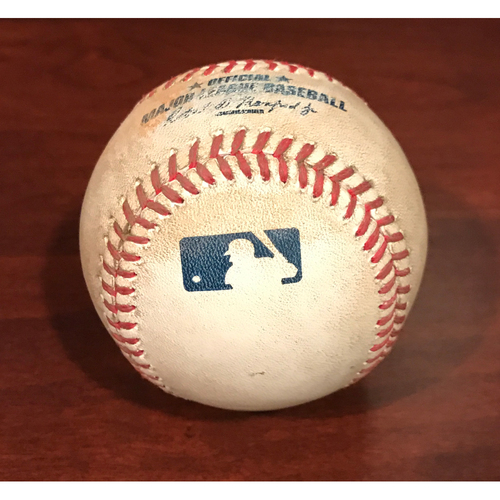 Photo of Game-Used Baseball - Chris Owings Pitch in the Dirt vs. Madison Bumgarner