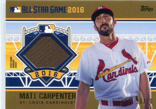 Photo of 2016 Topps Update All-Star Stitches Gold #ASTITMC Matt Carpenter