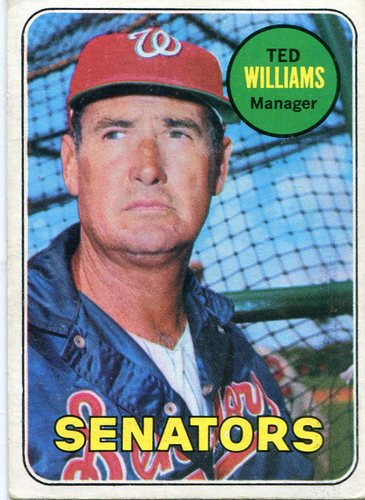 Photo of 1969 Topps #650 Ted Williams -- Senators manager