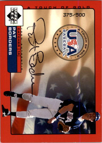 Photo of 2001 Upper Deck Rookie Update USA Touch of Gold Autographs #PB Pat Borders