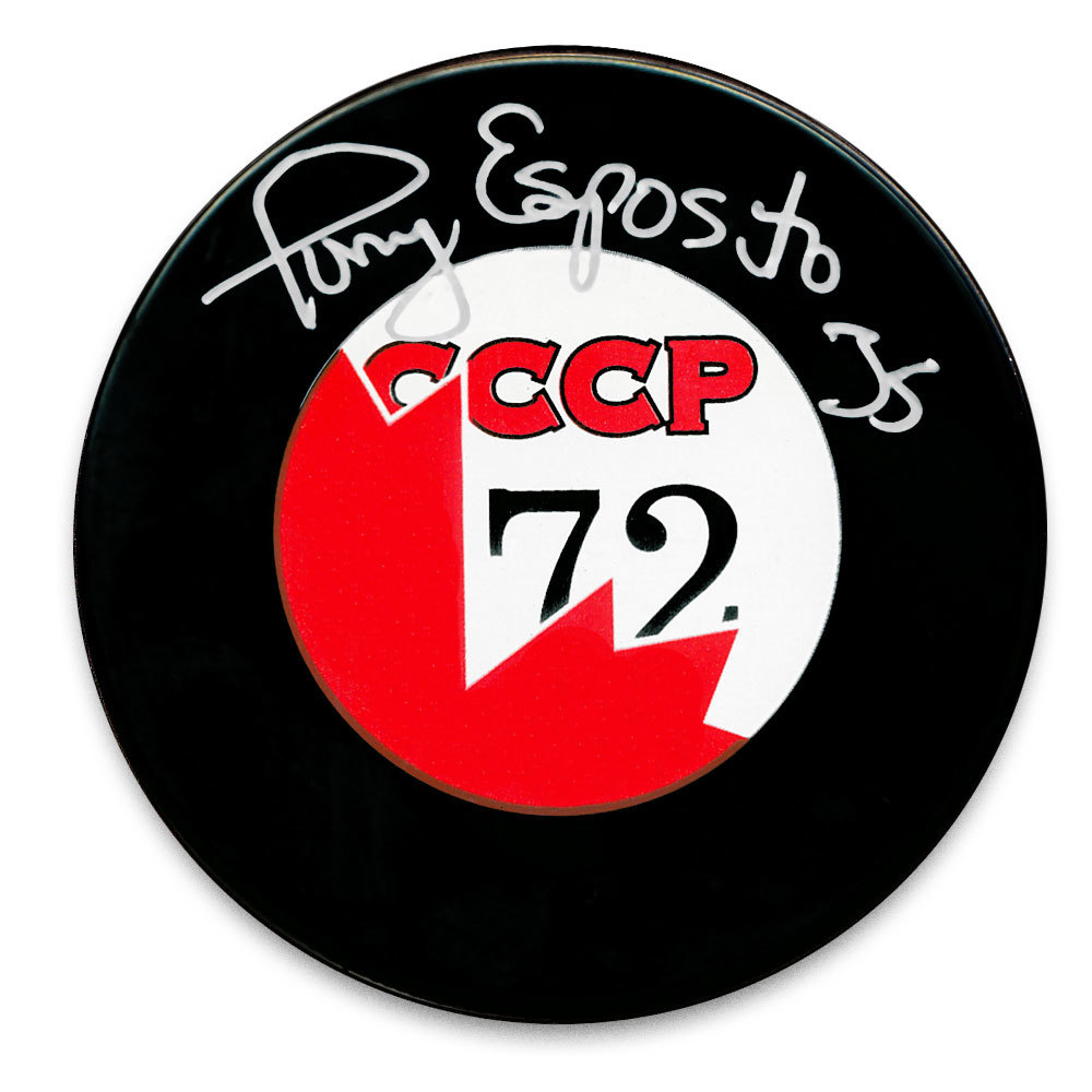 Tony Esposito Team Canada Summit Series 1972 Autographed Puck
