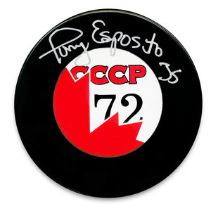 Tony Esposito Team Canada Summit Series 1972 Autographed Puck