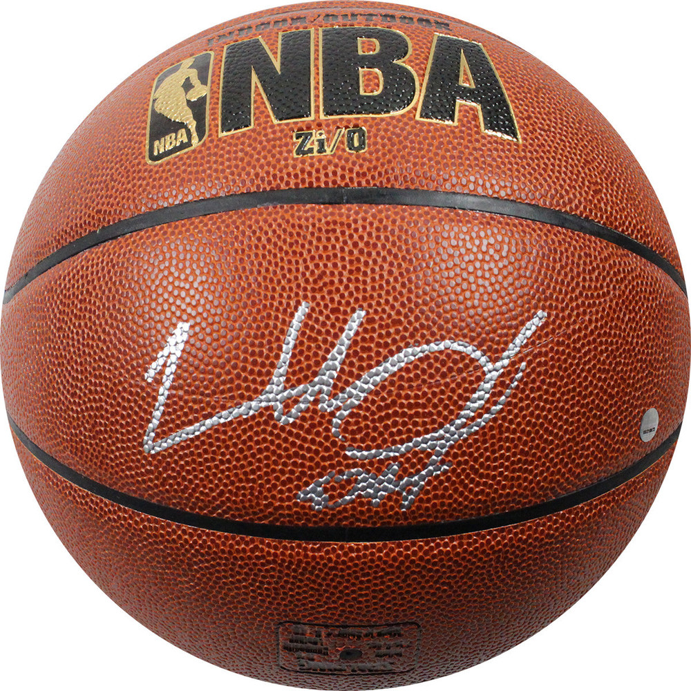 Charles Oakley Signed I/O Brown Basketball
