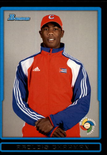 Photo of 2009 Bowman Draft WBC Prospects #BDPW24 Aroldis Chapman -- Yankees post-season