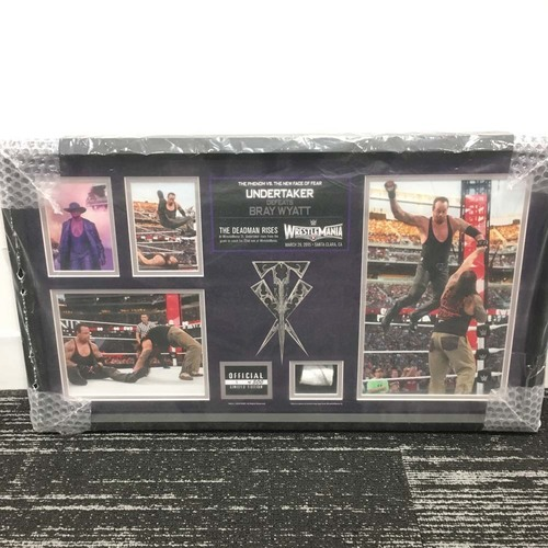 Photo of The Undertaker Commemorative WrestleMania 31 Framed Ring Rope Collage (#1 of 500)