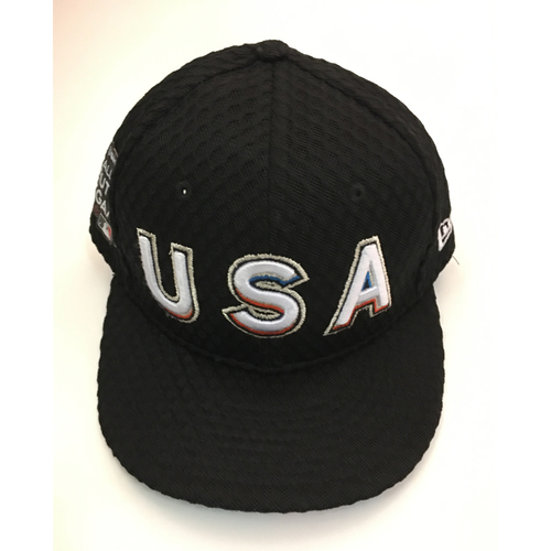 Photo of Rhys Hoskins Team USA Game-Used Cap - 2017 ASG Futures Game - Cap Size - 7 1/4