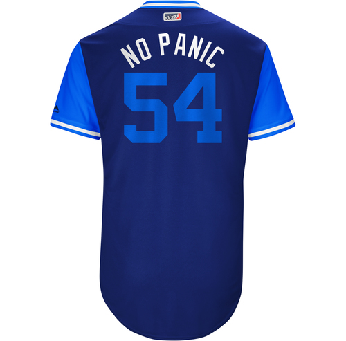 "Photo of Roberto ""No Panic"" Osuna Toronto Blue Jays Game-Used Players Weekend Jersey"