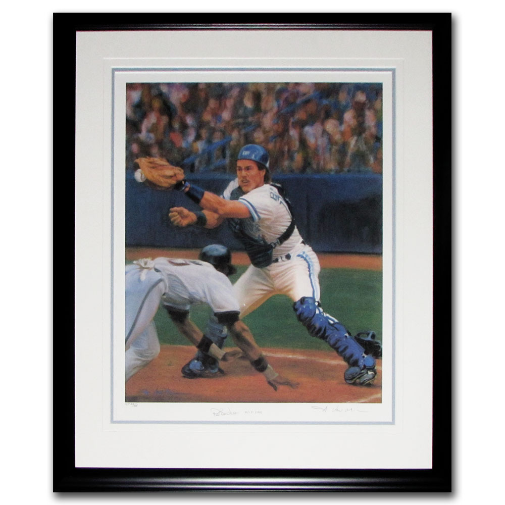 Pat Borders Autographed Toronto Blue Jays Framed Lithograph - #40/45