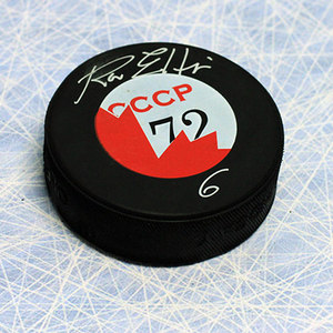 Ron Ellis Team Canada Autographed 1972 Canada/CCCP Hockey Puck