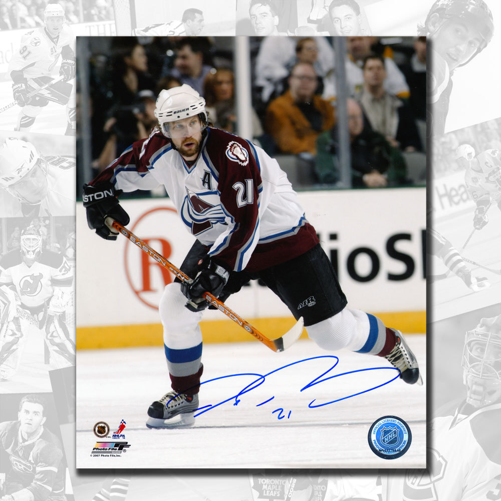 Peter Forsberg Colorado Avalanche Autographed 8x10