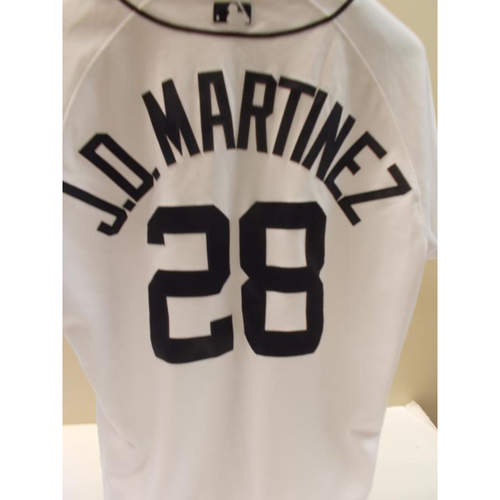 Photo of Game-Used JD Martinez Home Jersey: Home Runs 101, 102 and 103-11 Hits-7 RBI's