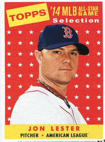 Photo of 2014 Topps 5x7 All-Star Selection Jon Lester -- Part of exclusive Minneapolis FanFest set